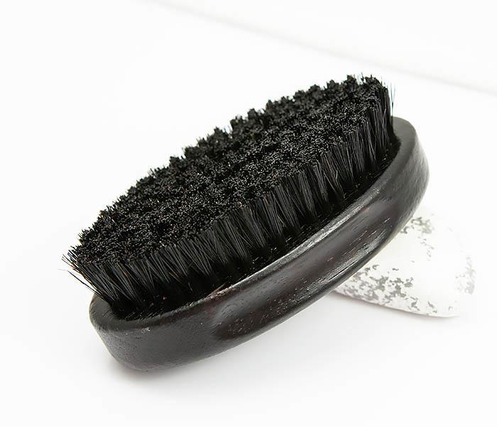 RAZ349 Большая щетка для бороды из щетины кабана фото 03
