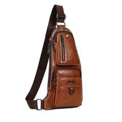 Мужская сумка-рюкзак Jeep Buluo 1941 через плечо кожаная