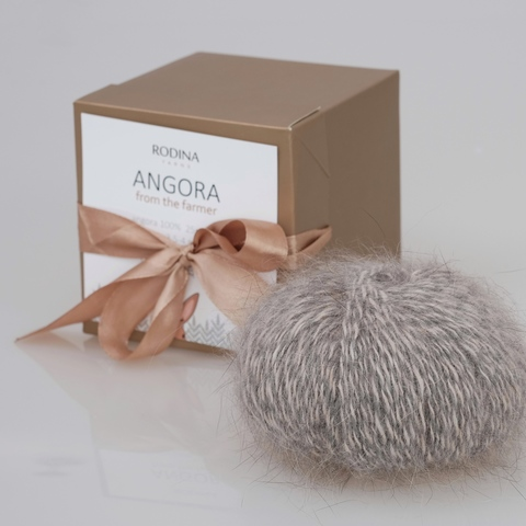Пряжа ANGORA From The Farmer (natural) Rodina Yarns
