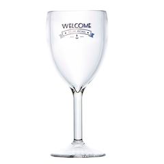 WINE GLASS, PARTY – WELCOME TO LIFE – POLYCARBONATE