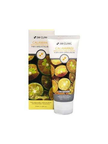 Осветляющий крем для улучшения тона кожи лица 3W Clinic с экстрактом каламондина 100 мл