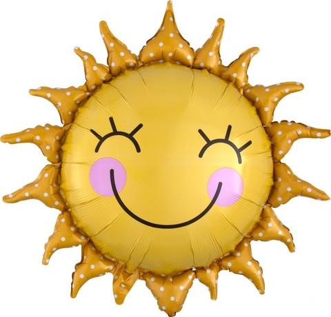 Шар фигура Солнце улыбающееся, 66 см