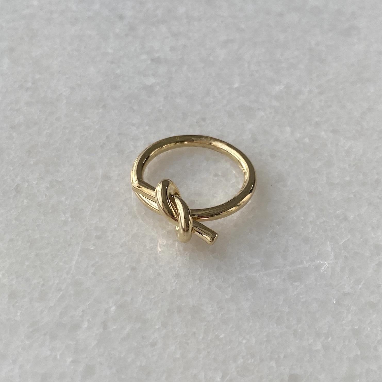 Кольцо Узелок (золотистый)