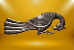 Силиконовый молд № 359 Винтажная птица большая  правая
