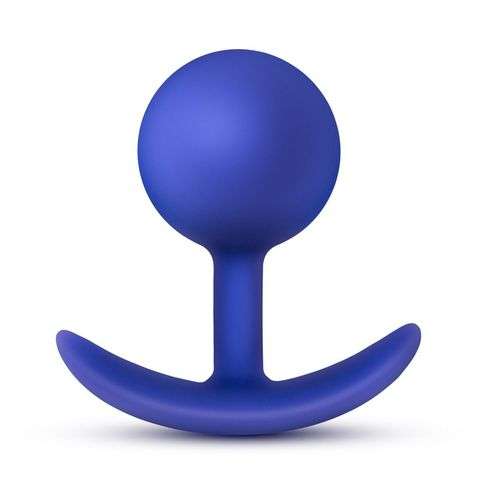 Синяя анальная пробка для ношения Performance Wearable Vibro Plug - 8,4 см.