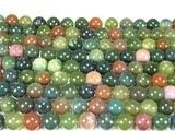 Нить бусин из агата Индийского, шар гладкий 10мм