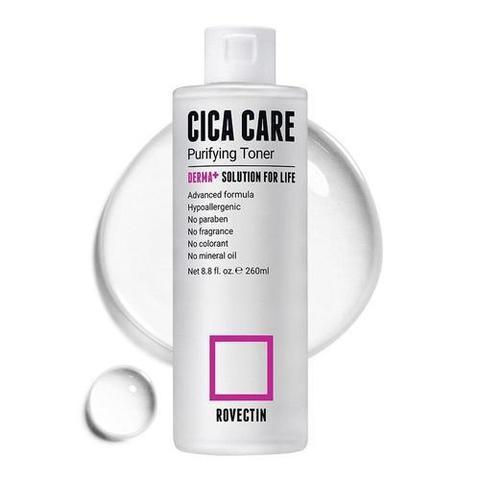 Успокаивающий тонер для чувствительной и повреждённой кожи, 260 мл / Rovectin Cica Care Purifying Toner