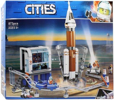 Конструктор Cities 11387 Сити Ракета для запуска в далекий космос и пульт управления запуском
