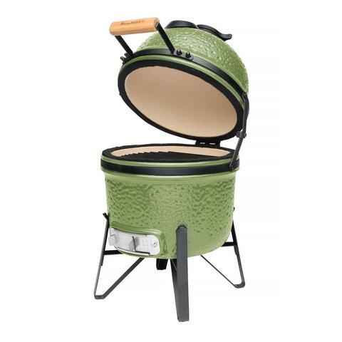 Компактный керамический уличный гриль 41*36*57см (зеленый)