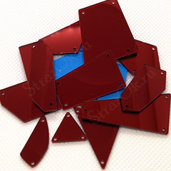 Пришивные зеркала купить в наборе красные Dark Siam оптом