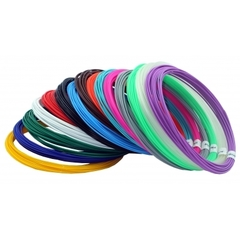 Набор пластика PLA для 3D ручек (15 цветов по 10 м)