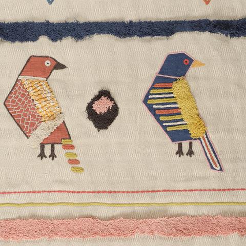 Ковер из хлопка в этническом стиле с орнаментом Птицы из коллекции Ethnic