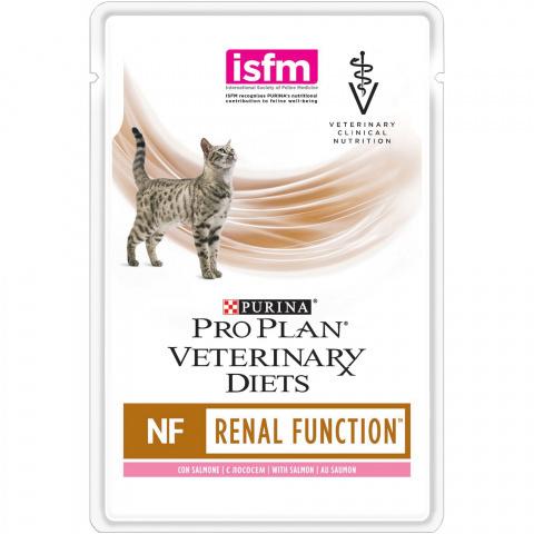 Влажный корм Purina Veterinary Diets Feline NF Salmon пауч диета для кошек 0,085 кг