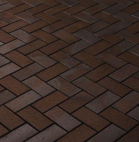 Vandersanden - Bautzen, коричневый пестрый, 200x100x45 - Клинкерная тротуарная брусчатка