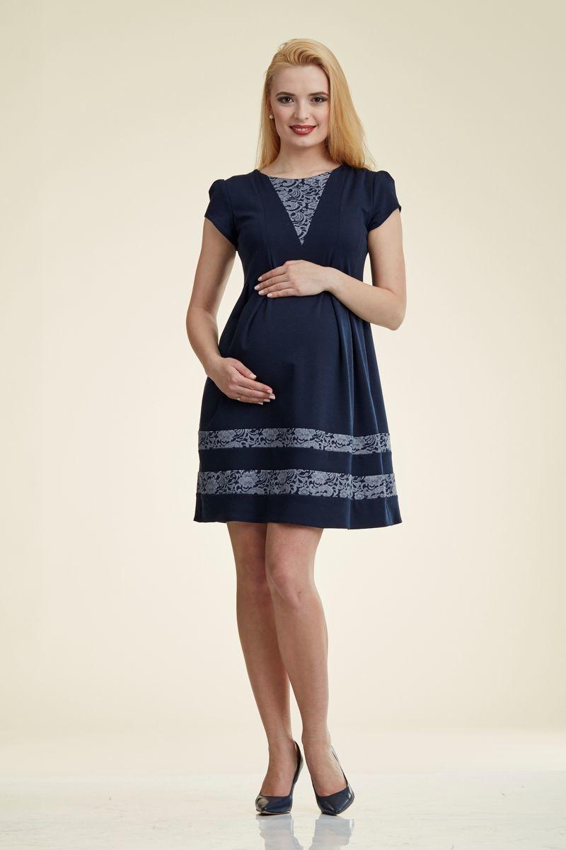 Платье для беременных 06174 синий