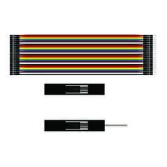Соединительный кабель 1x40 пин мама-папа - 20см