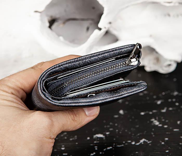 WL329-3 Мужское портмоне из натуральной кожи с монетницей фото 11