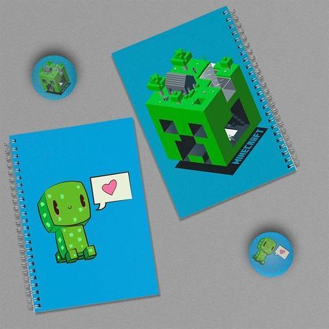 Creeper: набор из 2 тетрадей и 2 значков