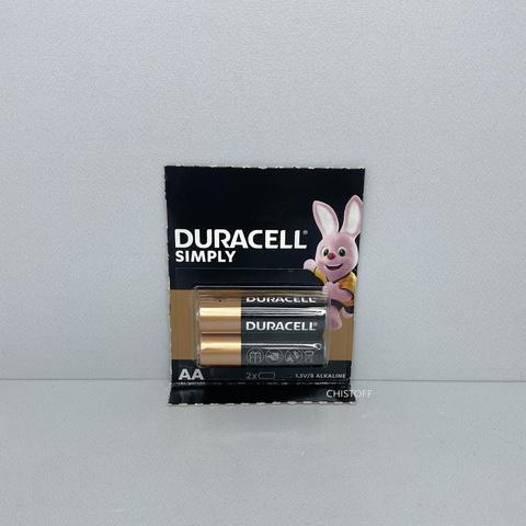 Батарейка Duracell AA 1.5V Alkaline (2 шт.)