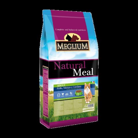 Meglium Adult Сухой корм для кошек с говядиной, курицей и овощами