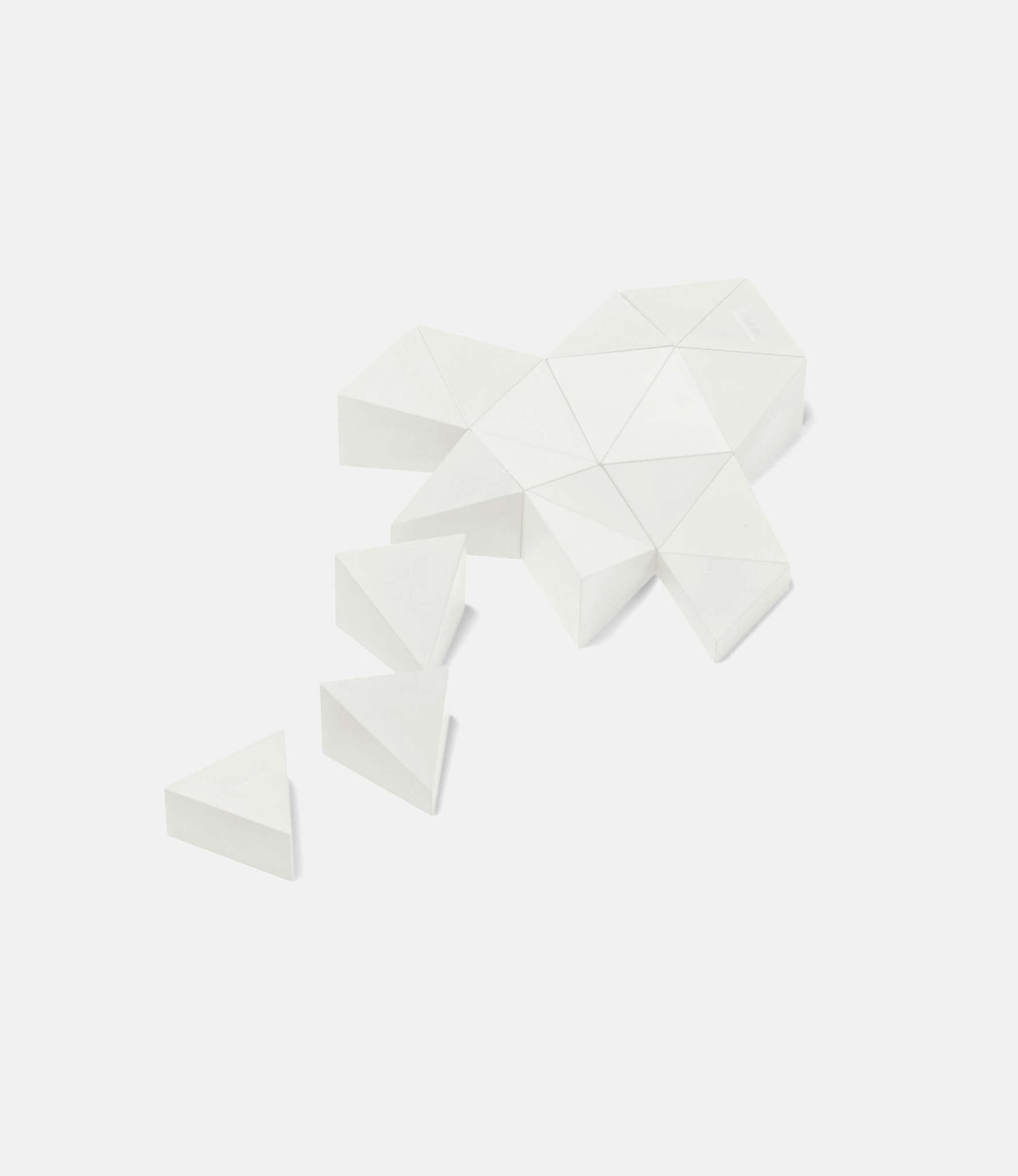 Logideez Logifaces Original Set Marble— пазл из бетона: белый мрамор