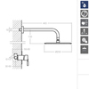 Встраиваемый смеситель для душа с душевым комплектом ATICA K7518012 на 1 выход - фото №2