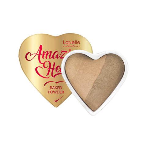 LavelleCollection Пудра запеченная для лица 3-х цв. PD-AH -02 Amazing heart тон 02 natural beige