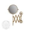 Зеркало оптическое настенное Migliore Provance ML.PRO-60.519 d 18 x h 40 x 60cm (3x)