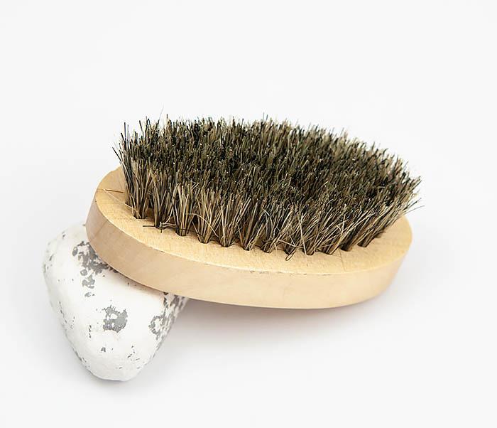 RAZ348 Деревянная щетка для бороды из щетины кабана
