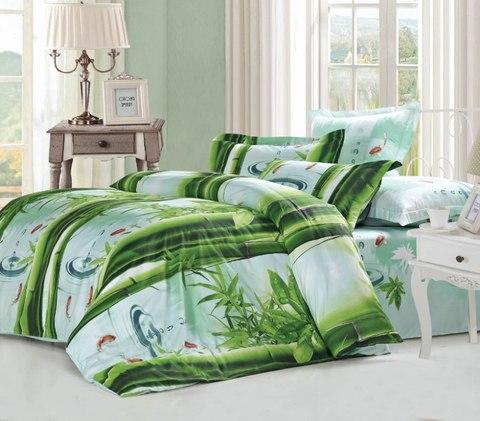 Сатиновое постельное бельё  2 спальное  В-153