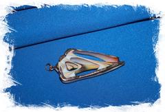 Подвеска из среза морской ракушки с позолочением
