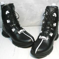 Ботинки кожаные женские зимние Ripka 3481 Black-White.