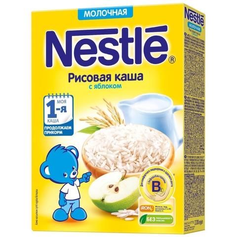 Каша NESTLE Рисовая Яблоко 220 г РОССИЯ
