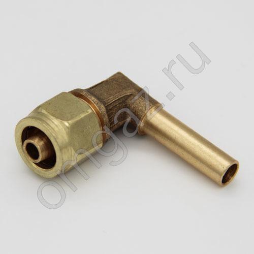 Угловой фитинг для термопластиковой трубки D8