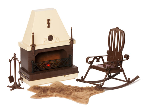 Мебель для кукол Огонек для каминной комнаты