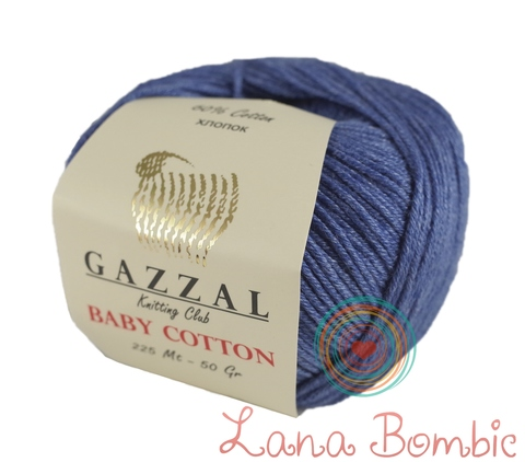 Пряжа Gazzal Baby Cotton 3431 джинс