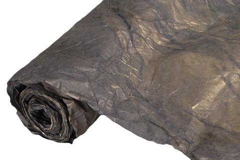 Бумага жатая эколюкс 70см х 5м графитовый/золото 12G