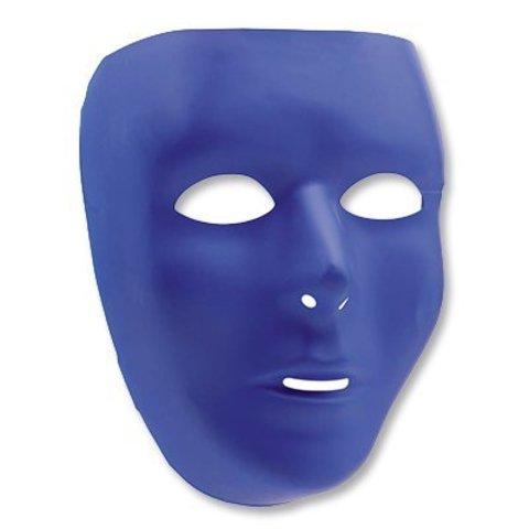 Маска пластик синяя/А