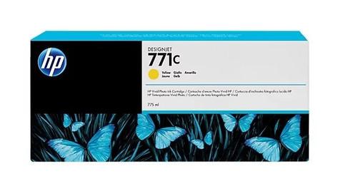 Оригинальный картридж струйный HP B6Y10A (№771C) желтый