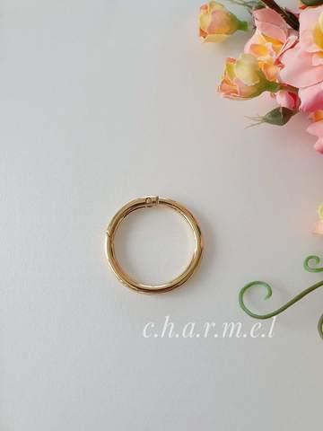 Карабин-кольцо золото, D 25 мм