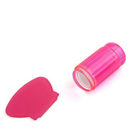 Штамп для стемпинга рифленый TNL - прозрачно розовый