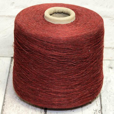 Вискоза со льном SOFT FRESH 1/28 бордово-коричневый твидовый