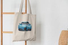 Сумка-шоппер с принтом Bugatti (Бугатти) бежевая 003