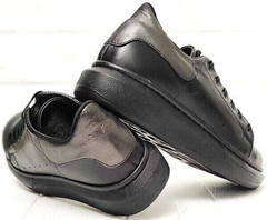 Демисезонные кроссовки сникерсы женские на платформе EVA collection 0721 All Black.