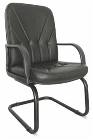 Кресло Менеджер стандарт короткий конференц кожа (черная)