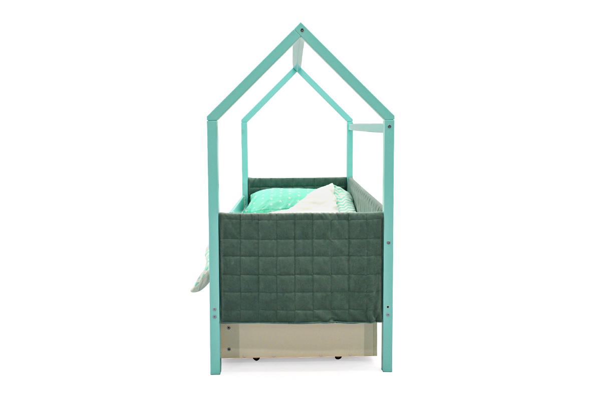 Кровать-домик мягкий «Svogen мятный»