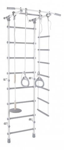 ДСК Pastel 1 цв.белый-серый (веревочная лестница, тарзанка, кольца)