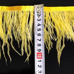 Купить оптом перья Страуса на ленте в интернет-магазине Citrine желтые