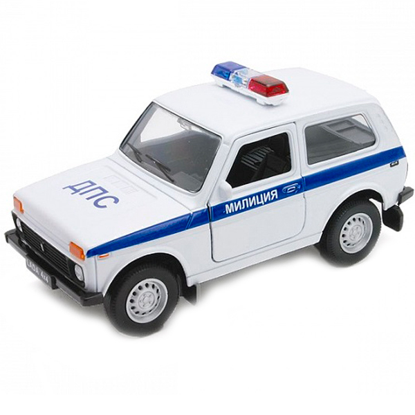 Машинка-игрушка LADA 4x4 Нива Милиция ДПС