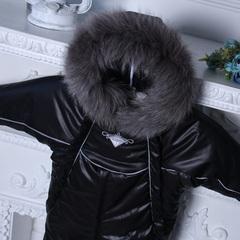 Зимний комбинезон трансформер Снежинка (черный)